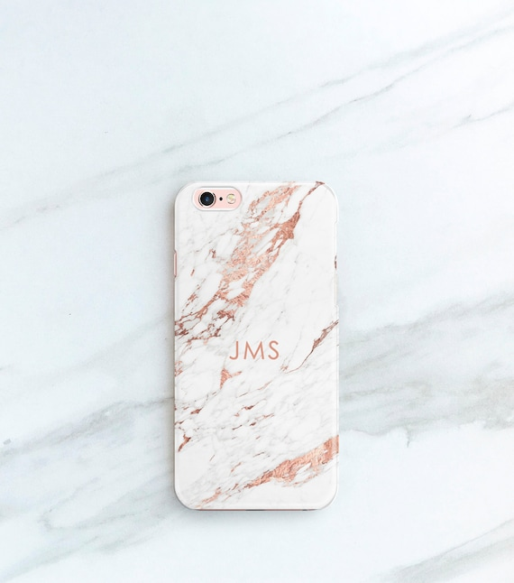 marble iphone 8 plus case with initials