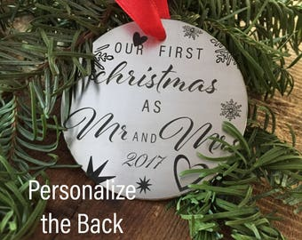 Our First Christmas as Mr and Mrs 2017 Christmas Ornament Holiday Our First Christmas Ornament 2017 Christmas Ornament