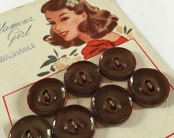 Vintage 1940's Shirt Buttons Set of 7