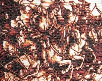 THE FOUR HORSEMEN - Albrecht Durer 1471 - 1528 - Printed Sew On Patch - Vest, Bag, Backpack