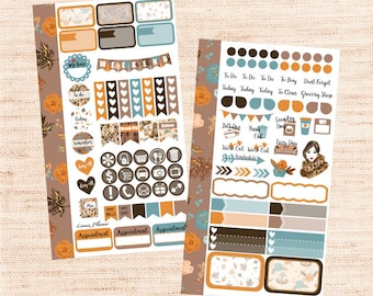 Fall Fashion PERSONAL Kit (matte planner sticker, Filofax, Kikki K, Websters Pages, Color Crush)