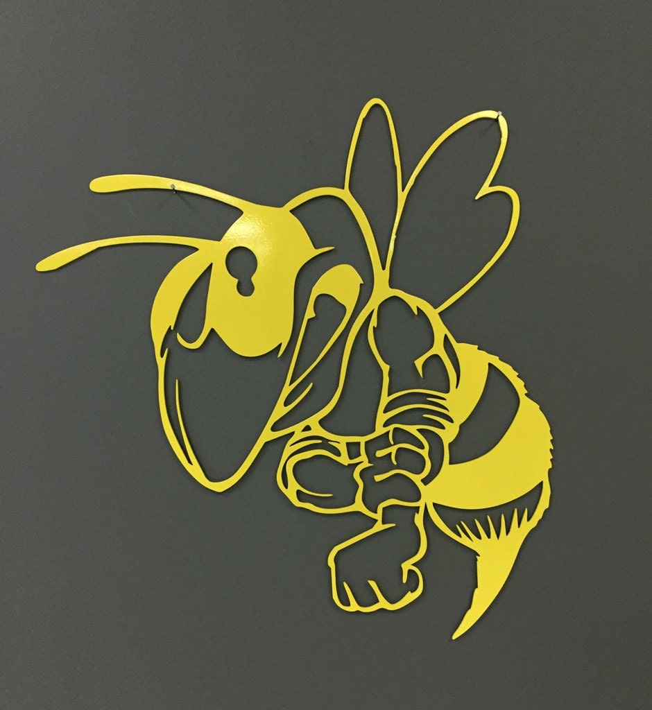 Wall Art team mascot hornet yellow jacket