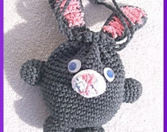 Easter Bunny Bag, Crochet Pattern Instant Download