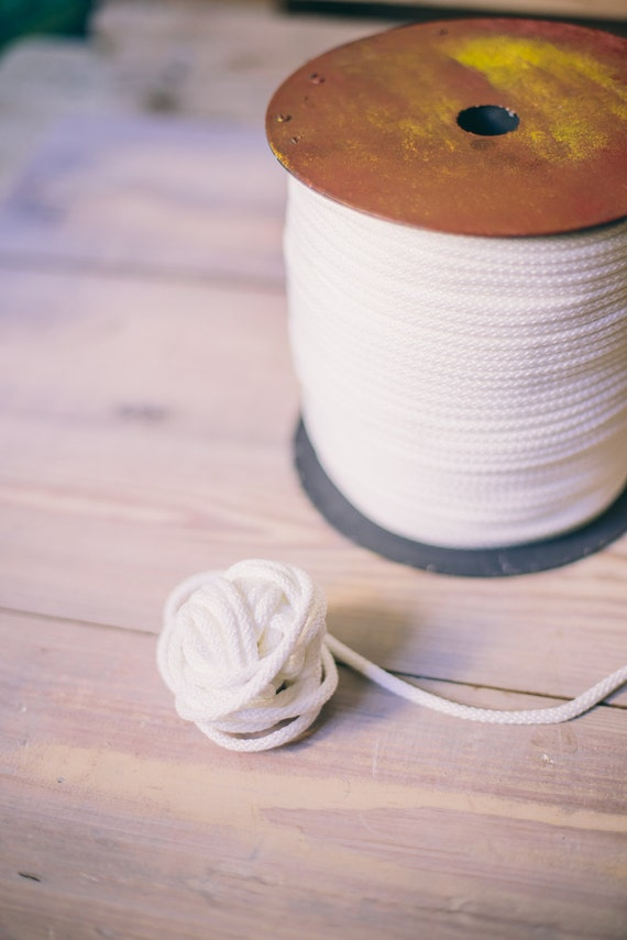White yarn, craft supplies, crochet yarn, crochet rope, 5-6 mm polyester rope, macrame cord, scandinavian style- rope cord, macrame #01