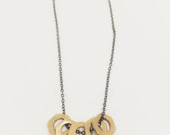 Hexagon Abacus Necklace