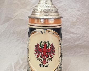 Vintage Tirol beer stein