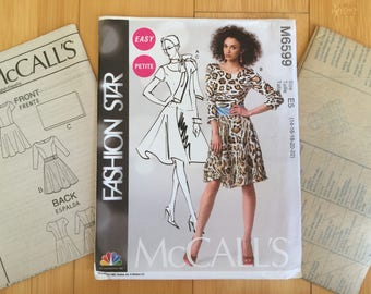 Fit and Flare Dress size 14 16 18 20 22 bust 36 38 40 42 44 McCalls 6599 misses sewing pattern