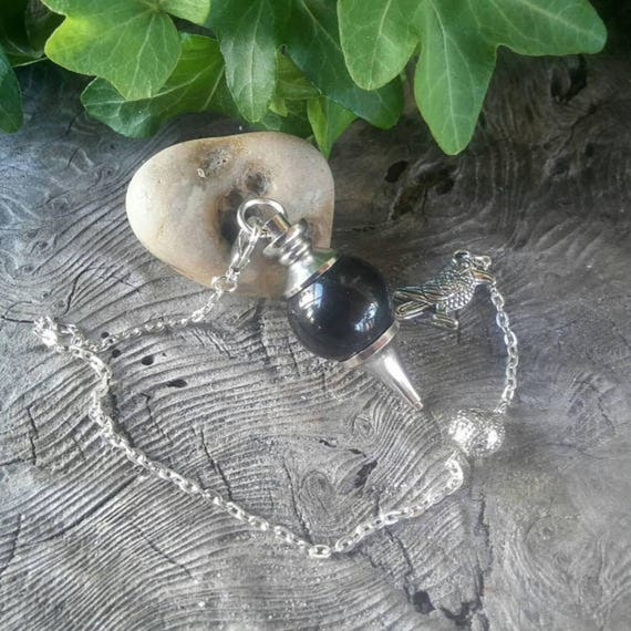 Obsidian Pendulum - Black Obsidian - Dowsing Pendulum - Pendulum - Pendulums - Divination - Crystal Pendulum