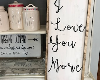 I love you, i love you more (set of two)