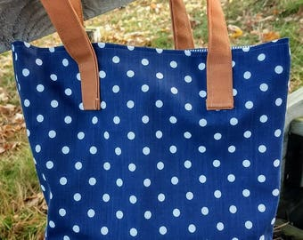 Saturday Morning Tote - Polka Dots