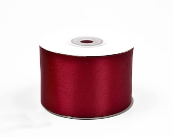 25 meters of 50 large Burgundy ref 270 mm satin ribbon