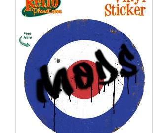 Mod Bullseye Graffiti Vinyl Sticker - #71333