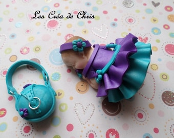 baby girl fimo Pearl double skirt.