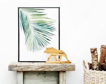Palm Watercolor Print | Botanical Illustration | Wall Art