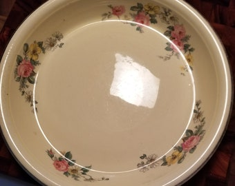 Homer Laughlin Oven Serve Roses Pie Plate