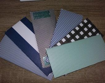 Set of 6 cash envelopes