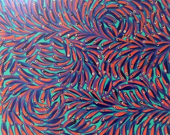 Fine art painting. Tiny Fish 2012