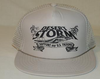 VTG Operation Desert Storm Support Our U.S. Troops Snapback Baseball Hat / Cap