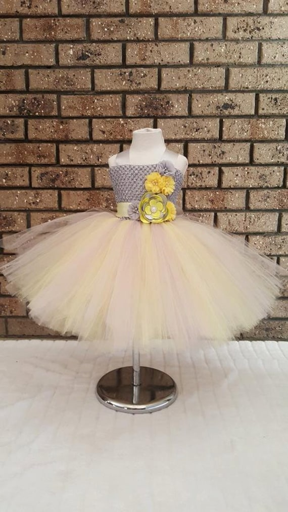 Yellow and gray flower girl dressyellow and silver flower yellow and gray flower girl dressyellow and silver flower girl dress nb to teen mightylinksfo