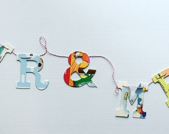 Board Book Garland Kit - MR & MRS