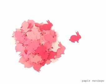 BoÓtes lapin, lapin boÓtes, lapins roses, Pâques confettis, confettis printemps, décorations de Pâques, lapin poinçons, 5 nuances de rose