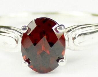 Mozambique Garnet, 925 Sterling Silver Ring, SR058