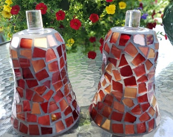 Mosaic Tall Votive Cups Lot 2 Pair Vintage Home Interiors Peg Candle Holders for Sconces Brown Bronze HOMCO