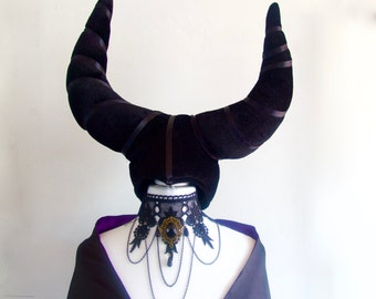 Women's Halloween Maleficent inspired Costume Set