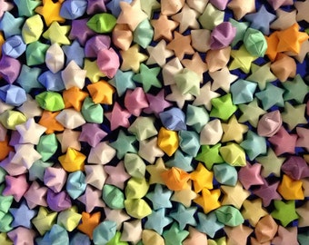 1000 origami stars pastel colors