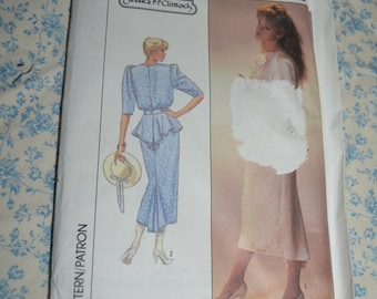 Simplicity 8223 Jessica MCcLintock Misses Two Piece Dress Sewing Pattern - UNCUT - Size 12
