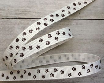 Paw Print Grosgrain Ribbon