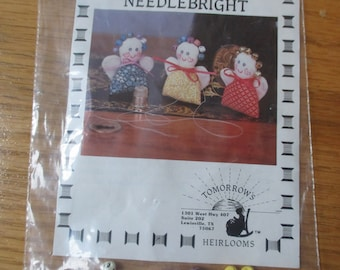 Tomorrow's Heirlooms Needlebright angel pattern multicolor tiny bells