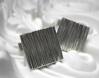 Cuff Links -recycled sterling silver handmade to order