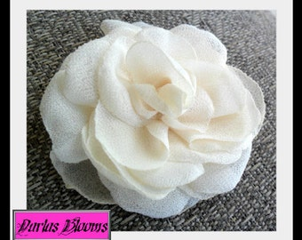 Bridal Hair Accessory, Hair Flower, Bridesmaids Hair Accessory, Boho Hair Flower, Chiffon Flower, Bridal Hairpiece, Wedding Hair Flower
