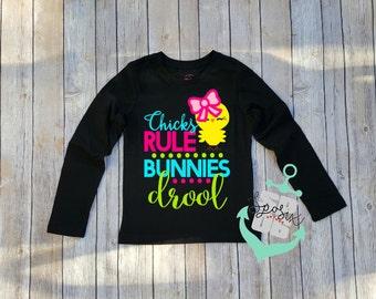 girls easter shirt,toddler girls,easter shirt,chicks rule,easter outfit,girls easter outfit,kids easter shirt,girly easter,shirt,easter top