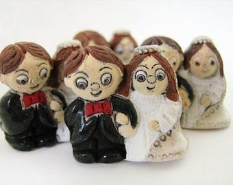 10 Large Wedding Couple Beads