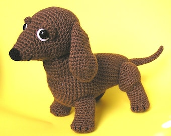 Pdf Crochet Pattern OSCAR the WEINER DOG (English only)