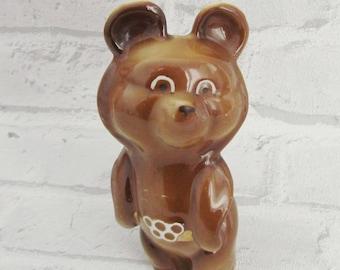Olympics Memorabilia olympic bear Porcelain Bear Porcelain figurine olympic misha olympic figurine olympic statue Olympics Mascot Olympic 80