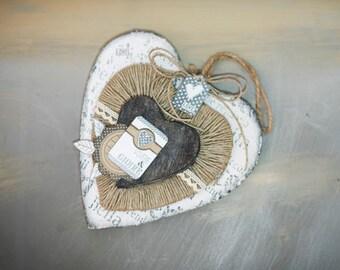Shabby Heart to hang