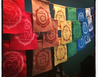 MINI Chakra Prayer Flags