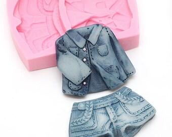 Shorts Jacket Silicone Mold, Jacket Silicone Mold, Shorts Silicone Mold, Shopping Silicone Mold, Clothes Silicone Mold, Silicone Mold