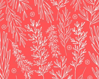 Christmas boughs Fabric by ZoeCharlotte