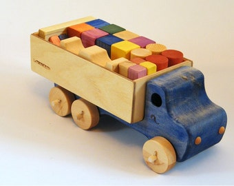 Wooden truck and blocks