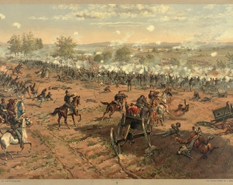 Images of America: The Civil War - The Battle of Gettysburg, July 1863 - Fine Art Print Reproduction