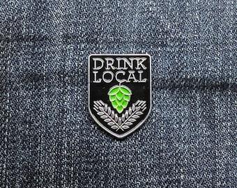 Drink Local - Enamel Pin