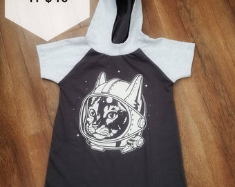 4t space kitty toddler dress