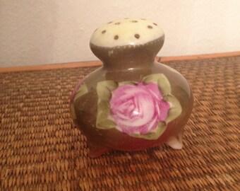 Vintage Porcelain Floral Powder Shaker