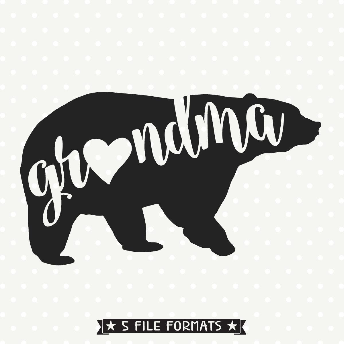 Grandma Bear Svg Bear Family Svg File Bear Svg File