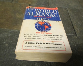1967 The WORLD ALMANAC and Book of Facts * Published by New York World-Telegram