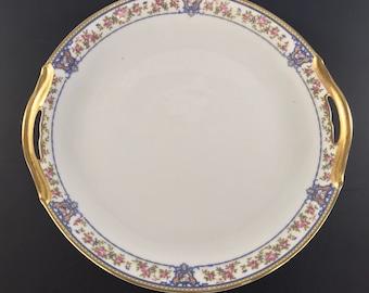"NORITAKE NIPPON China ""The Malay"" Pattern Circa 1912 - Handled Cake Plate"